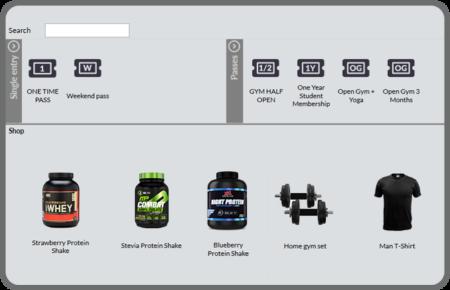 Sprzedaż produktów w klubie fitness w Aplikacji Recepcyjnej GYMMANAGER