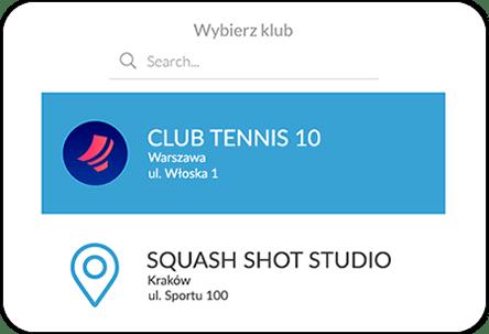 Aplikacja mobina dla kortów tenisowych