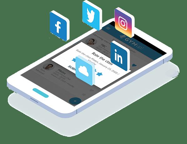 fitness social media in mobile app