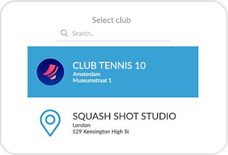 Tennish and squash mobile app GYMMANAGER