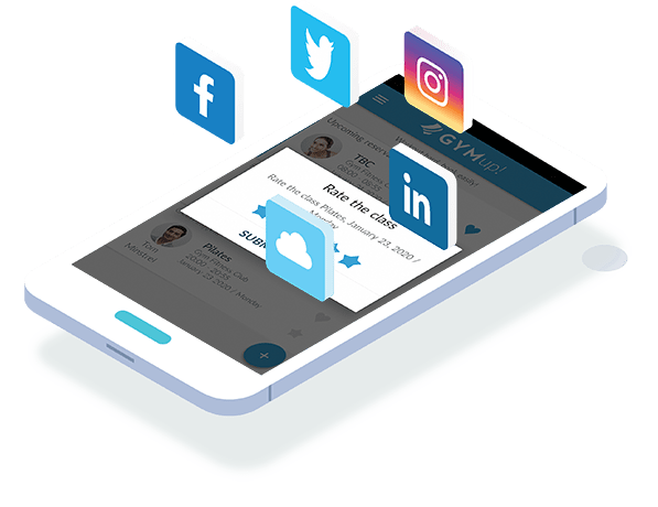 fitness social media in mobile app