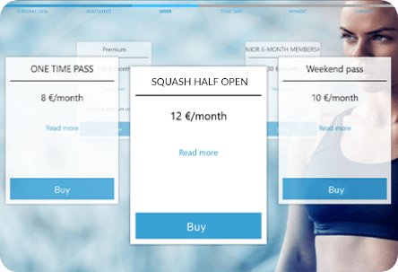 Kiosk samoobsługowy dla kortu tenisowego