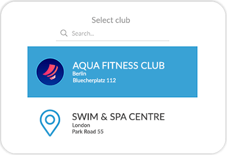 Swimming pool mobile app GYMMANAGER